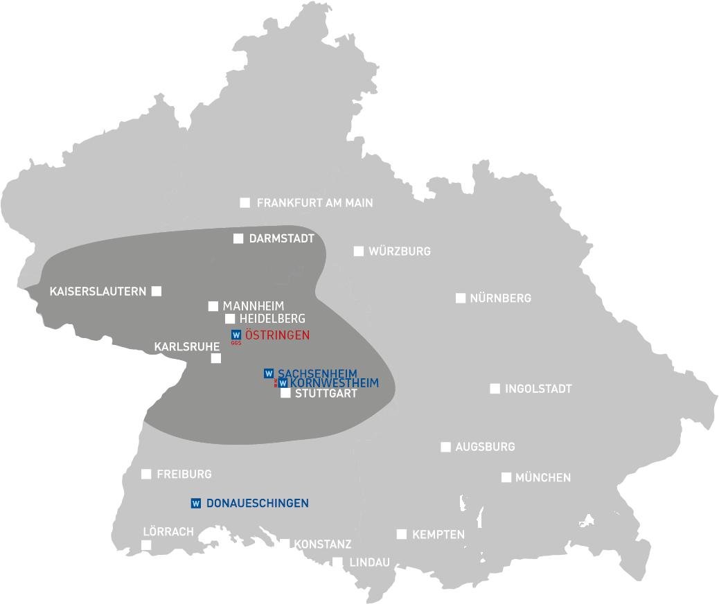 GGS Gastronomie Getränke Service - Unternehmen - Distributionsgebiet